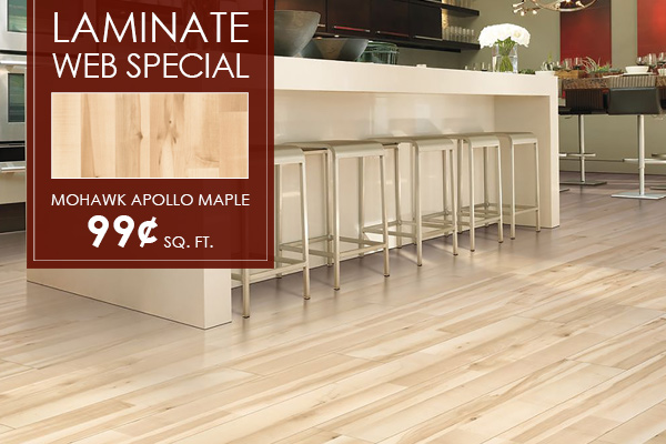 Laminate Web Special | Mohawk Apollo Maple - 99¢ sq. ft.